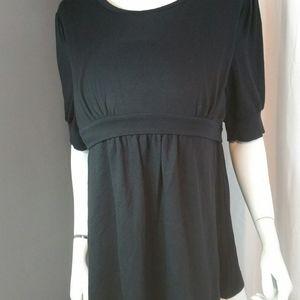 Maternity/Nursing Blouse. New Black. 2 sizes